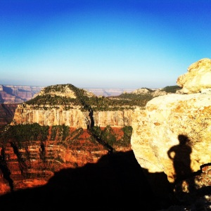 Me, my shadow and the Grand Canyon.