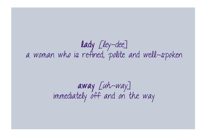 ladyawaydefinition
