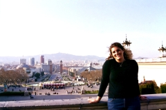 Visiting Barcelona in 2003.