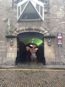 A welcome site! The gateway to the Jameson Distillery .