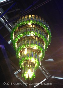 The Jameson bottle chandelier at the Jameson Distillery.