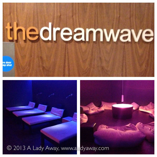The Dreamwave relaxation room at the spa.