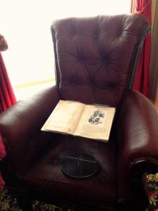 Dickens' armchair.