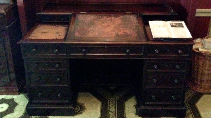 The desk on which Dickens wrote A Tale of Two Cities and Great Expectations.