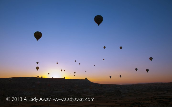 Balloons at sunrise.