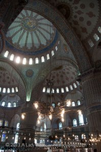 Finally! The interior of the Blue Mosque!