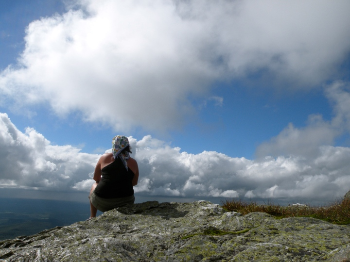 Hiking to the summit of Mt. Mansfield in Vermont.