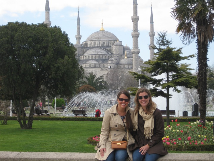 In Istanbul with friend Melissa.