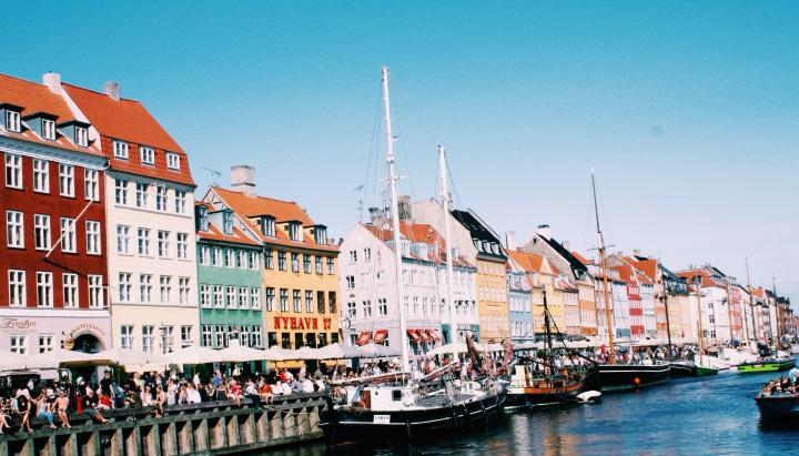 """Nyhavn, """"New Harbor"""" in Copenhagen."""