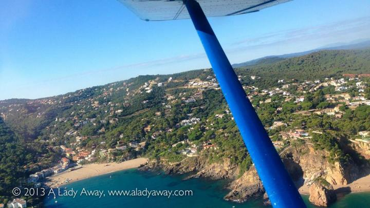 Aboard an ultralight plane in Costa Brava, Spain 2013.