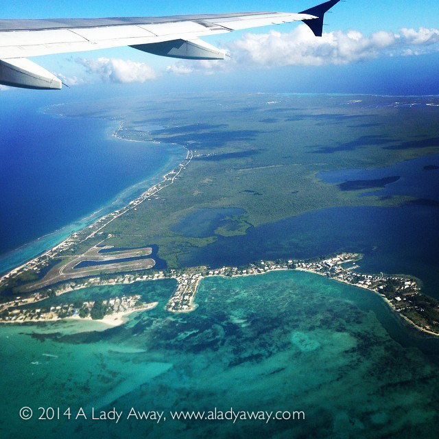 Flying over Grand Cayman last week.