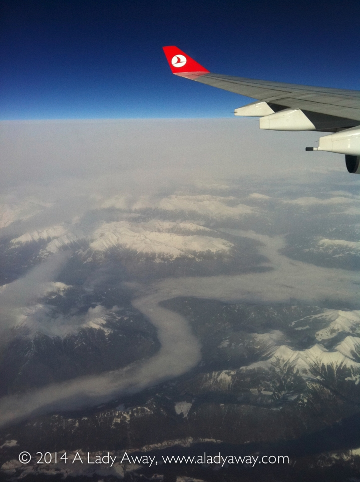 Flying over the Swiss Alps, 2011
