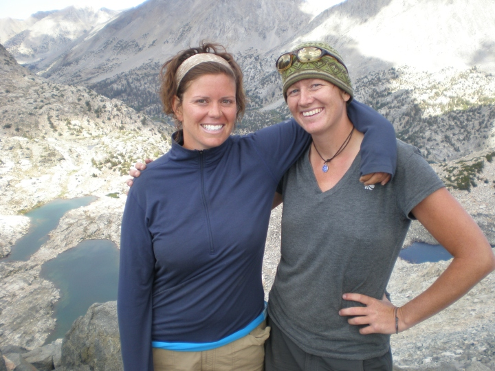Katie and Suz on the John Muir trail in California.