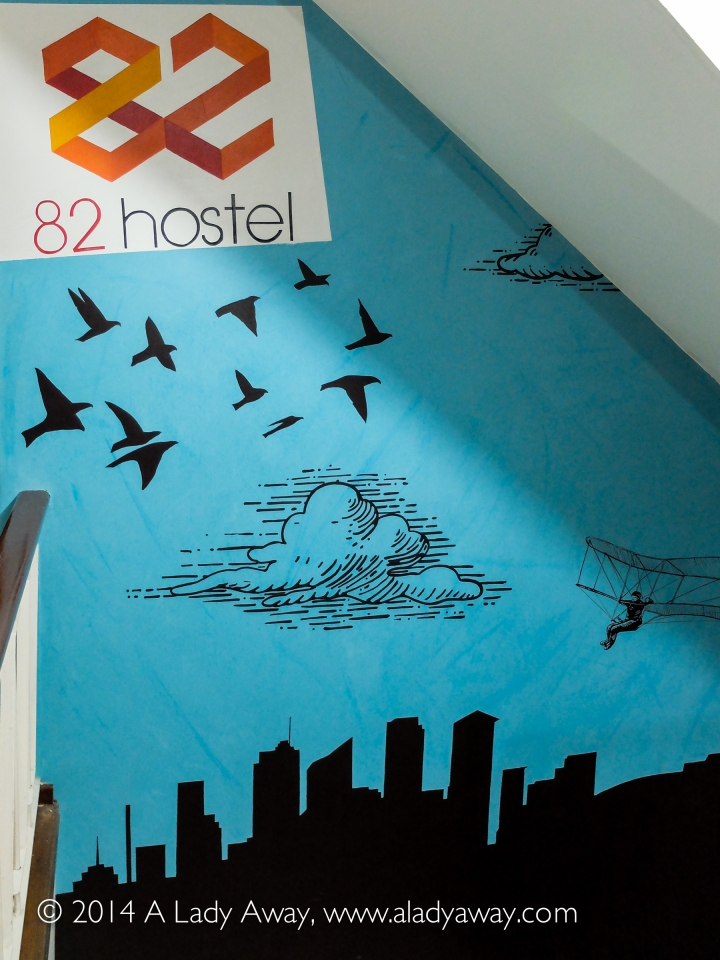 Fun murals and artwork are found throughout 82 Hostel.