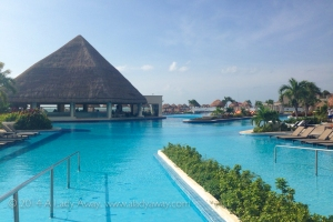 The pool at Moon Palace Resort in Cancun, Mexico.