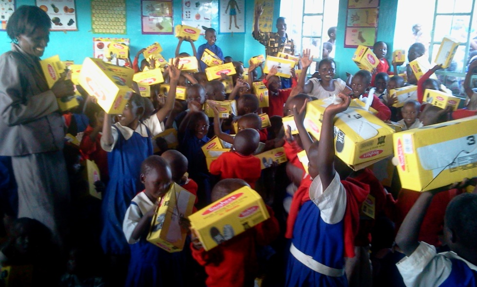 New shoes distributed to school children at Lemolo